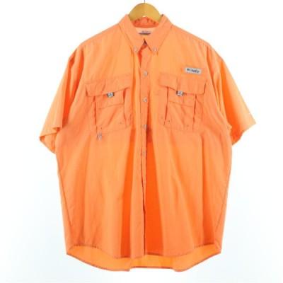 コロンビア Columbia PFG OMNI-SHADE ボタンダウン 半袖 フィッシングシャツ メンズL /eaa137846
