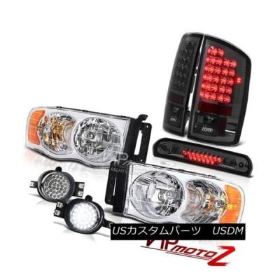 ヘッドライト 2002-2005ラムマグナムV8クロームヘッドランプパーキングテールライトLEDドライビングフォグティント 2002-2005 Ram