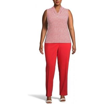 アン クライン Anne Klein レディース ノースリーブ 大きいサイズ トップス Plus Size Pearly Dot-Print Sleeveless Top Anne White/poppy