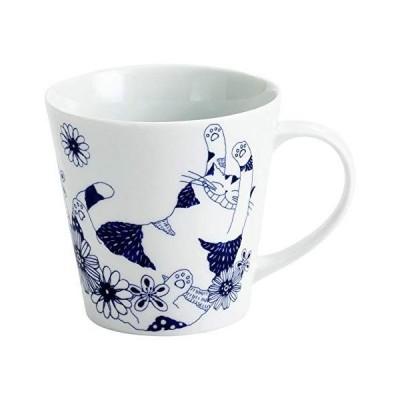 セラミック藍 ロンロンとミュウ マグカップ ロンロン サイズ:約φ8.9 H8.6 13470
