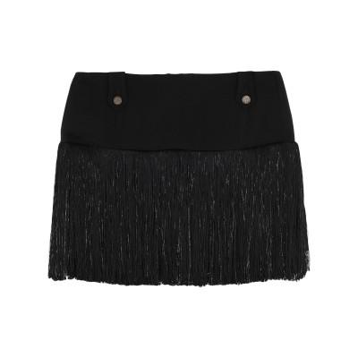 メッサジェリエ MESSAGERIE ミニスカート ブラック 40 レーヨン 96% / ポリウレタン 4% ミニスカート