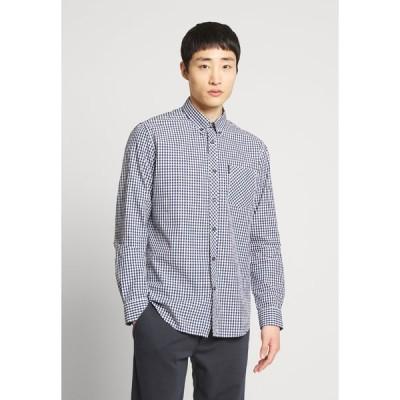 ベンシャーマン シャツ メンズ トップス SIGNATURE GINGHAM - Shirt - dark blue
