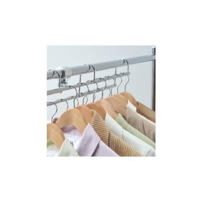 ハンガーラック 段違い 増量用 金具 標準 伸縮 シルバー ( パイプハンガー コートハンガー 衣類収納 ポールハンガー )