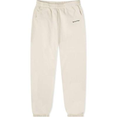 スポーティ アンド リッチ Sporty & Rich メンズ スウェット・ジャージ ボトムス・パンツ Classic Logo Sweat Pant Cream/Navy