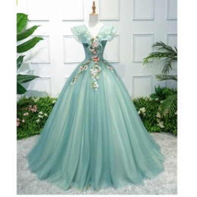 パーディードレス カラードレス 結婚式 発表会 披露宴 後撮り 花嫁 ウエディングドレス ロングドレス 20代 30代 40代 大きいサイズ 顔合