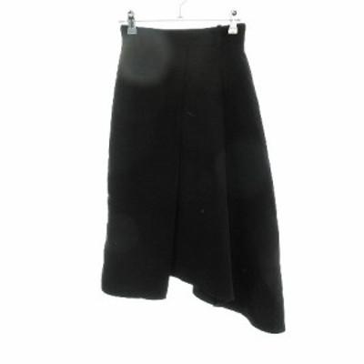 【中古】リエンダ rienda スカート フレア ロング 無地 S 黒 ブラック /CK レディース