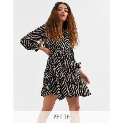 ワイ エー エス Y.A.S Petite レディース ワンピース ワンピース・ドレス Aritta tiger print smock dress