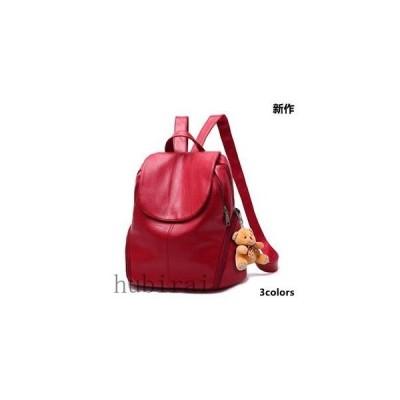 リュックサック ショルダーバッグ レディース 女性 鞄 リュックバッグ 背面ファスナー付き PU 通学 3way 新作 tman