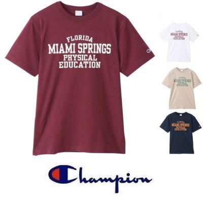 メール便可 Champion チャンピオン マイアミカレッジTシャツ C3-T311 メンズ 半袖 アメカジ
