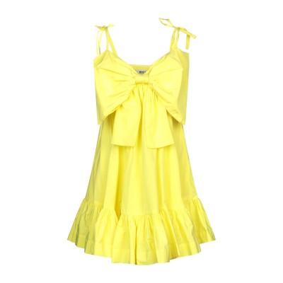 エムエスジーエム MSGM ミニワンピース&ドレス イエロー 38 ポリエステル 60% / コットン 40% ミニワンピース&ドレス