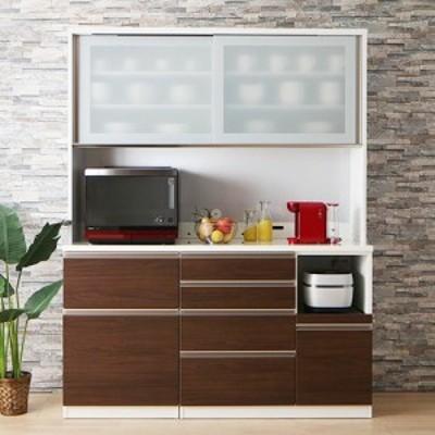 食器棚 レンジ台 完成品 キッチンボード レンジボード 大型レンジ対応 カウンター おしゃれ 白 組み立て不要 日本製 オシャレ ハイタイプ
