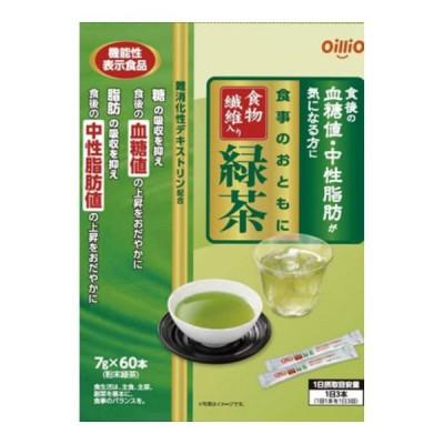 日清オイリオ 機能性表示食品 食事のおともに 食物繊維 緑茶 7gx60本入