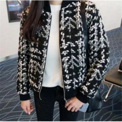 フォーマルにも使える 中綿入りツイードジャケット レディース ジャケット きれいめ 防寒 ファッション 中綿コート チェスターコート