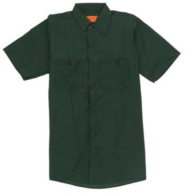 バックヤードファミリー BACKYARD FAMILY RED KAP レッドカップ 半袖 無地 4.25oz ワークシャツ SP24 (SG.スプルースグリーン)