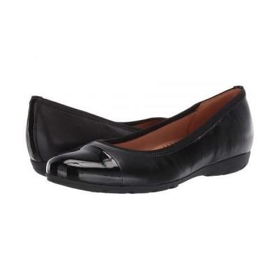 Gabor ガボール レディース 女性用 シューズ 靴 フラット Gabor 34.161 - Black Nappa HT/Lack HT