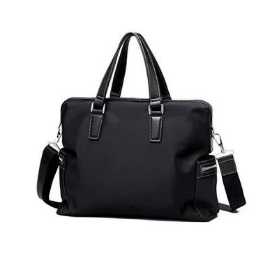 ZHAOTARPS Briefcase, Laptop Bag Men's Handbag Casual Shoulder Bag Oxford Cloth Business Diagonal Bag Canvas Backpack (Color : Black)【並