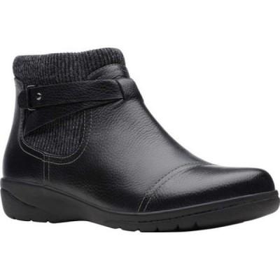 クラークス Clarks レディース ブーツ シューズ・靴 Cheyn Kisha Chelsea Bootie Black Tumbled Leather/Textile