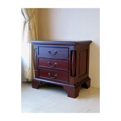 輸入家具 アウトレット  ナイトテーブル HENNECY クラシック ブラウン色