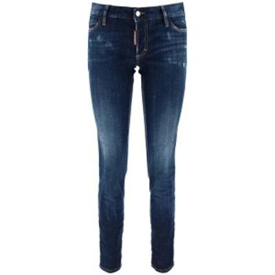 DSQUARED2/ディースクエアード デニムパンツ BLUE Dsquared2 jennifer cropped jeans レディース 秋冬2020 S75LB0350 S30342 ik