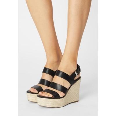 レディース サンダル Platform sandals - black