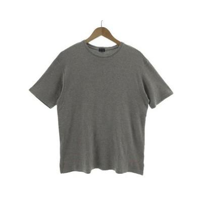 【中古】ケンゾー KENZO Tシャツ 半袖 丸首 ロゴ刺繍 総柄 グレー F メンズ 【ベクトル 古着】