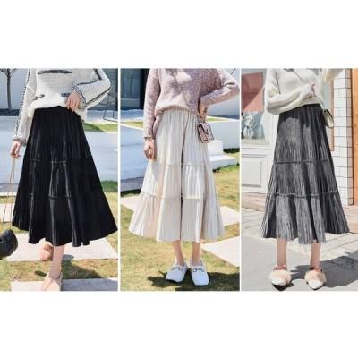 スモーキー カラー スカート コーデュロイ 5色