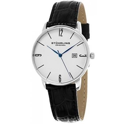 ストゥーリング オリジナル 腕時計 メンズウォッチ Stuhrling Original Men's 997L.01 Ascot Stainless Steel Date Watch With Black Leather Band