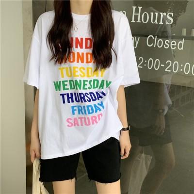 カラフル ロゴ Tシャツ 2カラー
