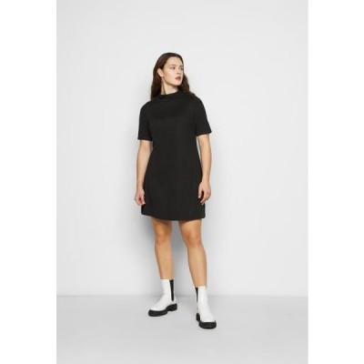 レディース ドレス HIGH NECK SWING DRESS - Day dress - black
