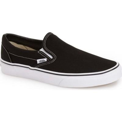 ヴァンズ VANS メンズ スリッポン・フラット シューズ・靴 Classic Slip-On Black