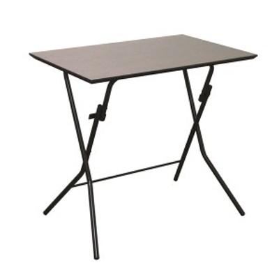 折りたたみテーブル 幅75cm ダークブラウン×ブラック 日本製 木製 スチールパイプ 『スタンドタッチテーブル755』 代引不可 生活用品 イ