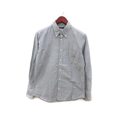【中古】ユナイテッドアローズ UNITED ARROWS ボタンダウンシャツ 長袖 グレー /MS メンズ 【ベクトル 古着】