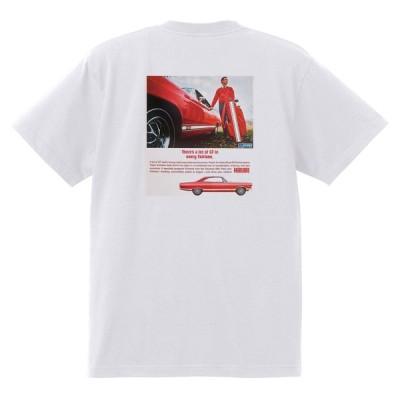 アドバタイジング フォード 749 白 Tシャツ 黒地へ変更可 1967 サンダーバード ギャラクシー ファルコン フェアレーン マスタング ランチェロ
