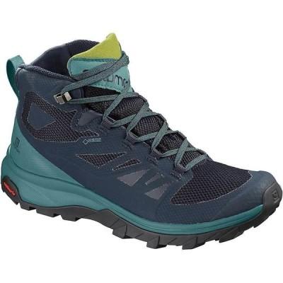 サロモン Salomon レディース ハイキング・登山 シューズ・靴 Outline Mid GTX Shoe Navy Blazer/Hydro/Guacamole