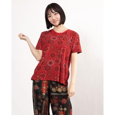 デシグアル Desigual Tシャツ半袖 LYON (ピンク/レッド)