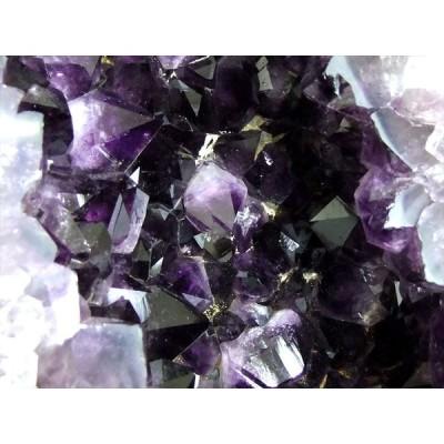 太い結晶で濃い紫 アメジストドーム 高さ 415mm、重さ 21.0キロ アメジスト原石 ブラジル産