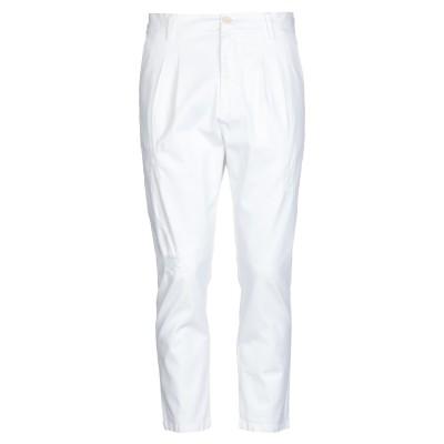 GAëLLE Paris パンツ ホワイト 32 コットン 97% / ポリウレタン 3% パンツ