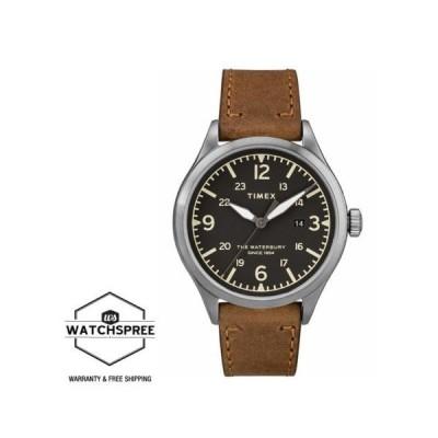 腕時計 タイメックス Timex Men's Waterbury Traditional 40mm Leather Strap Watch TW2R71200