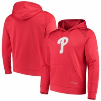 Majestic マジェスティック スポーツ用品  Majestic Philadelphia Phillies Red Armour Poly Fleece Pullover Hoodie