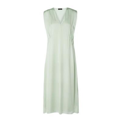 セオリー THEORY 7分丈ワンピース・ドレス ライトグリーン L シルク 100% 7分丈ワンピース・ドレス