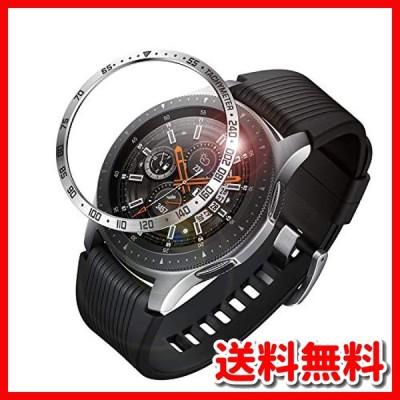 Fintie Samsung Galaxy Watch 46mm / Gear S3 ベゼルリング 保護ベゼルカバー 傷防止ベゼル 粘着カバー ステンレス製 高級感
