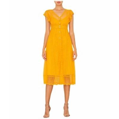 ミスミー レディース ワンピース トップス Lace Slip Dress Yellow