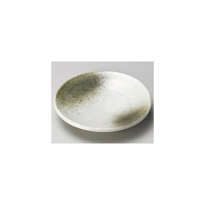 和食器 カ219-187 白マット織部吹手びねり4.0皿