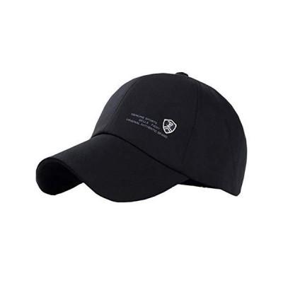 CHROME CRANE(クロム クレイン) メンズ キャップ 帽子 かっこいい ロゴ 無地 スポーツ カジュアル おしゃれ CB047 (01.ブラ