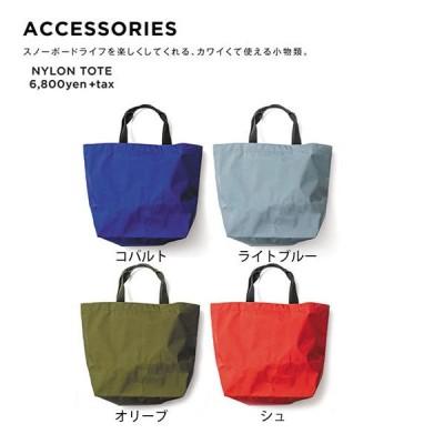 GREEN CLOTHING グリーンクロージング 19-20 NYLON TOTE (朱色)(トートバッグ ウェア素材)