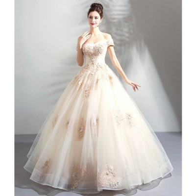 TS9996 プリンセスライン ウエディングドレス 暖色