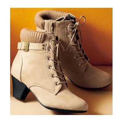 GeeRA / リブ付レースアップショートブーツ WOMEN シューズ > ブーツ