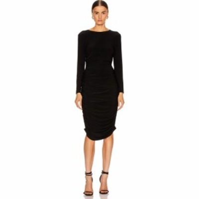 ノーマ カマリ Norma Kamali レディース ワンピース ワンピース・ドレス long sleeve shirred dress Black