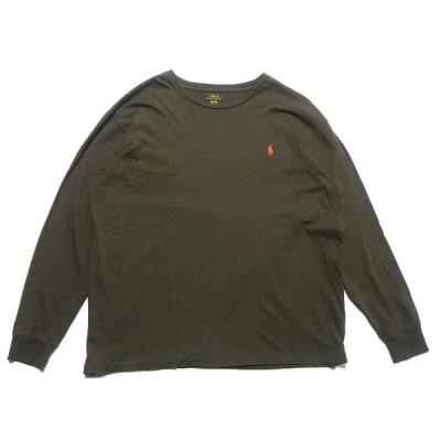 ポロラルフローレン ワンポイント ロゴ ロンT オリーブ サイズ表記:XL