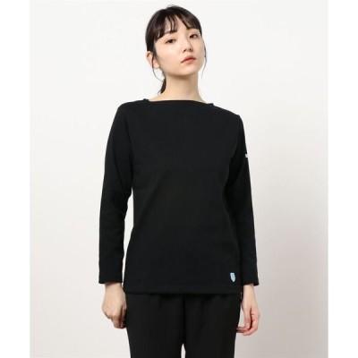 tシャツ Tシャツ 【ORCIVAL】コットンロードフレンチバスクシャツ SOLID WOMEN